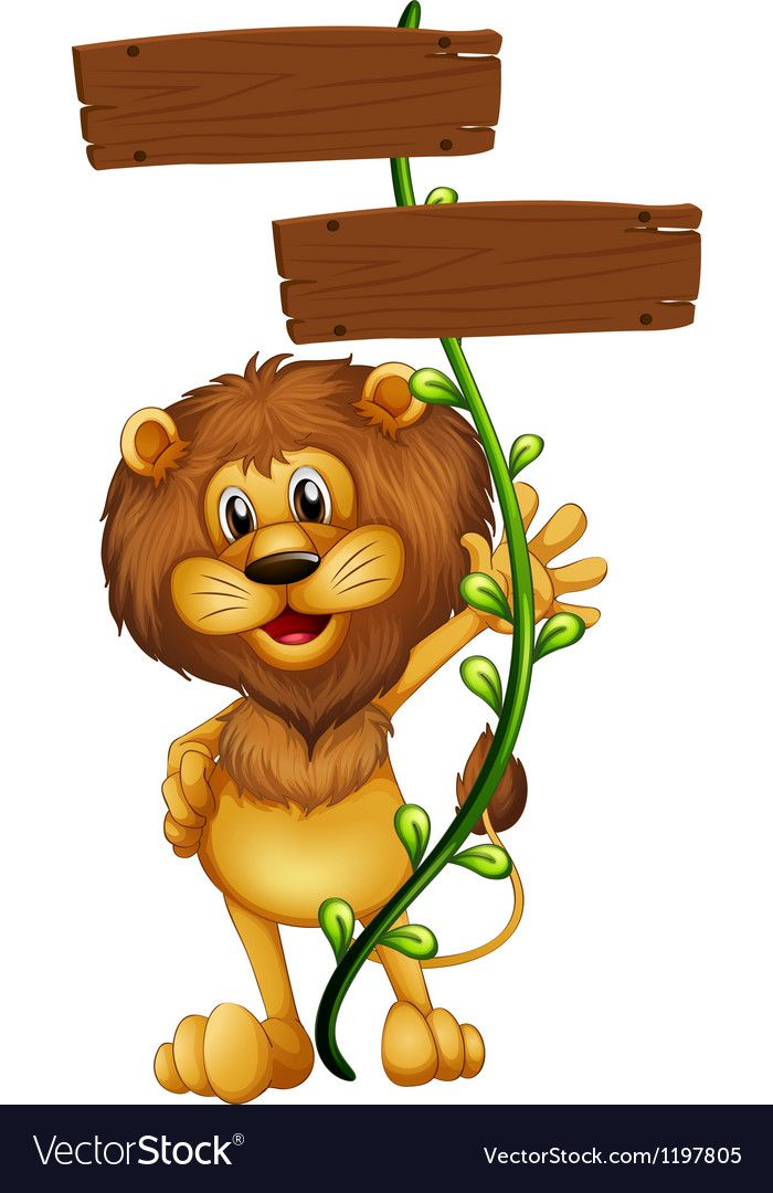 A Lion Holding A Sign Board On A White Background Download A Free Preview Or High Quality Adobe Illustra Festa Safari Baby Baby Jungle Animals Safari Birthday