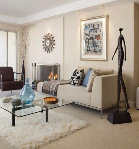 Wonderful White Living Room Interior Ideas: Benjamin Moore: Spanish White.