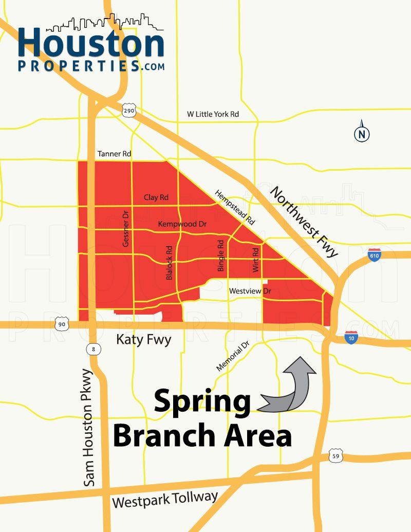 Spring Branch Houston Map Spring branch, Houston map