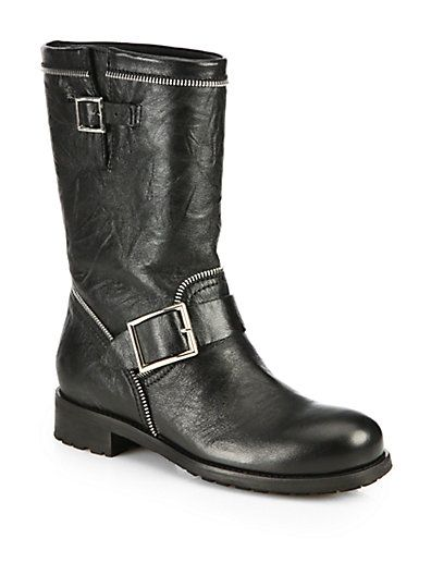 504521b63faa9 Daniel Gooch Black Leather Knee High Boots   boots!   Boots, Knee High Boots,  High knees