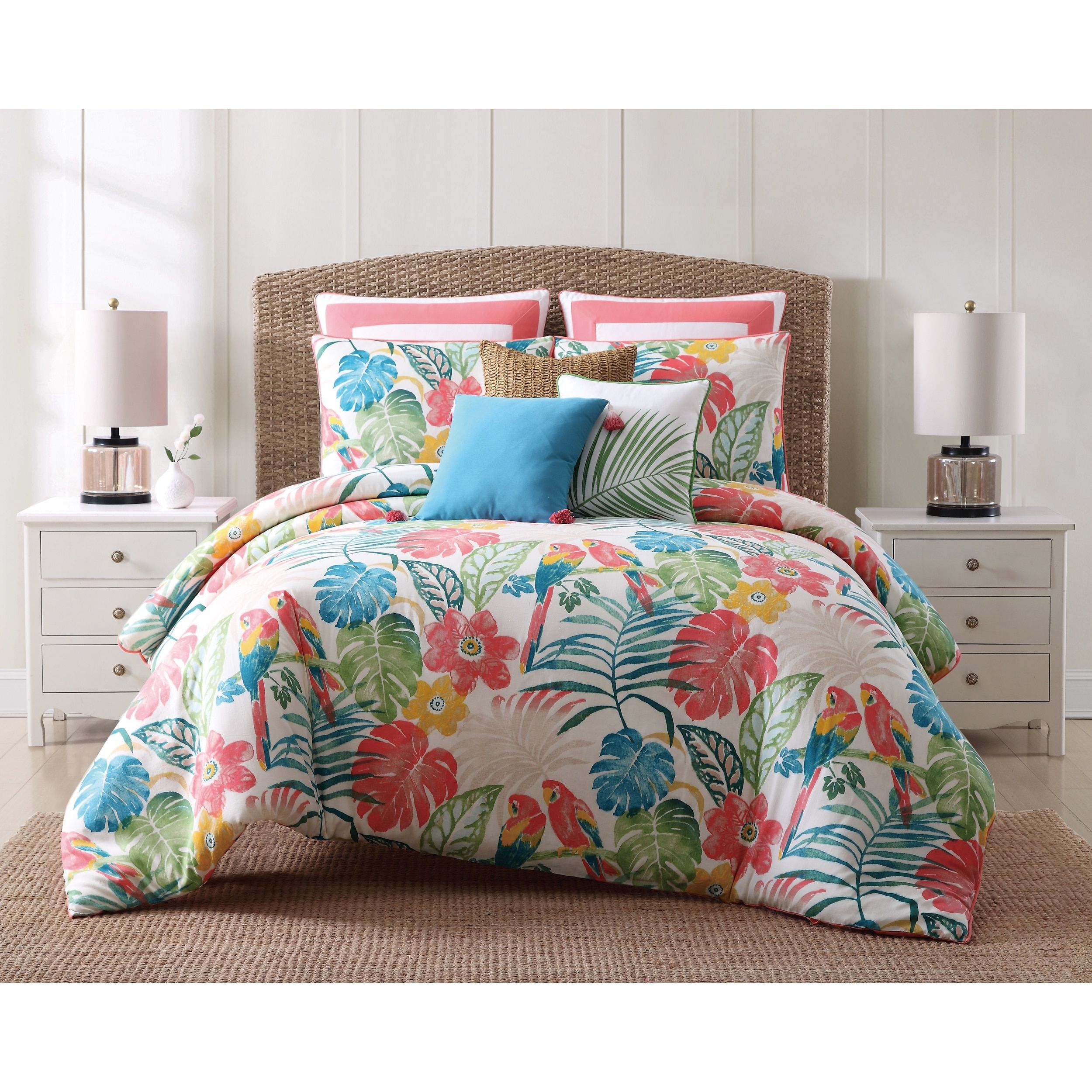 Oceanfront Resort Coco Paradise 3 Piece Cotton Duvet Set King