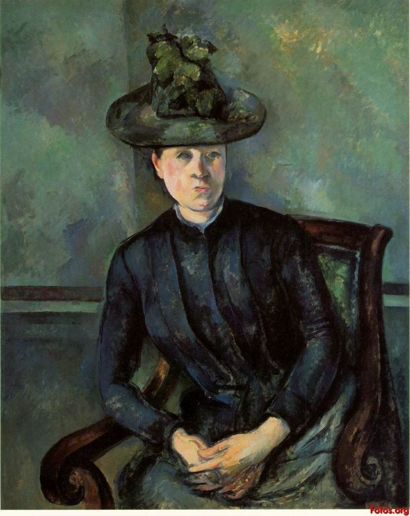Paul Cezanne Woman in a Green Hat 1894-5