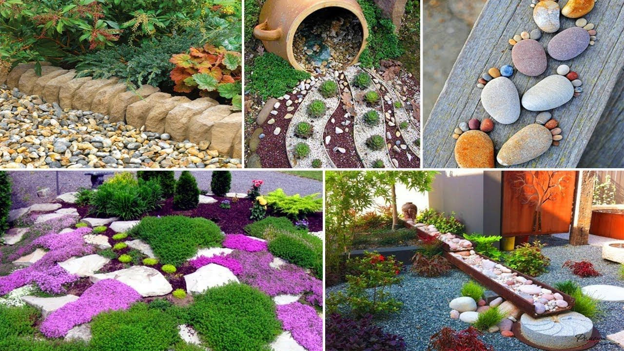 8 Fabulous Garden Decorating Ideas with Rocks and Stones  DIY