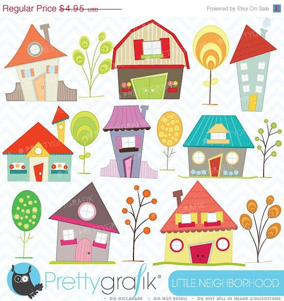 40-60% OFF House clipart commercial use, vector graphics, digital ...
