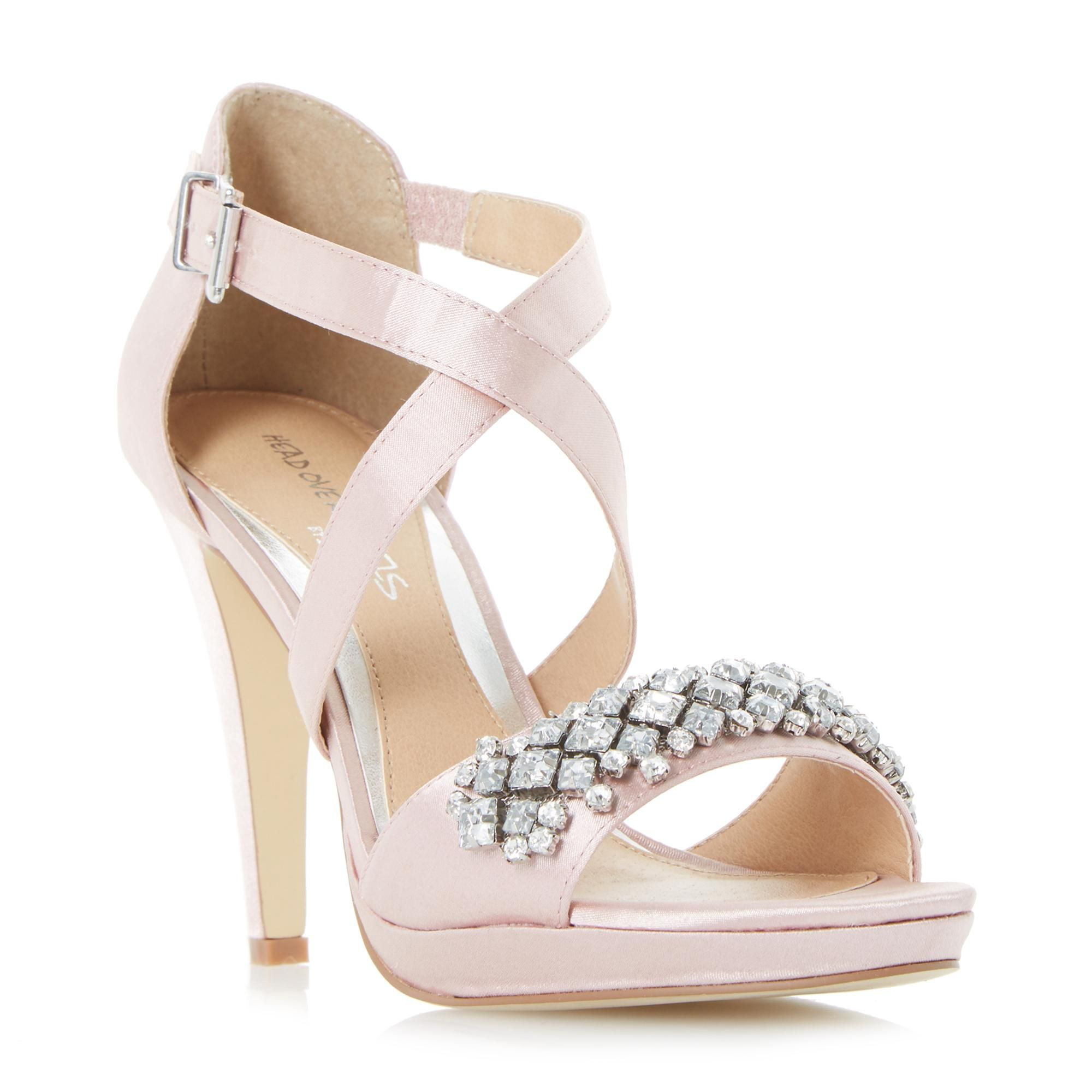 6fdd7a02c08266 HEAD OVER HEELS MAISY - Jewelled Strap High Heeled Sandal - nude
