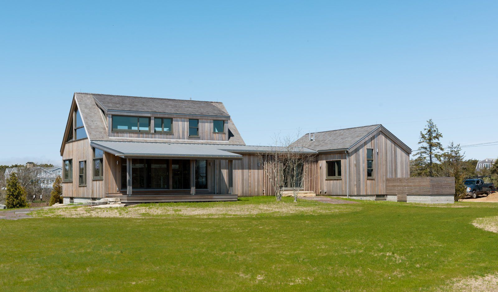 Photo 1 Of 6 In A Saltbox Home Is Revamped To Embrace Its Sublime Saltbox Houses Exterior Siding Architect