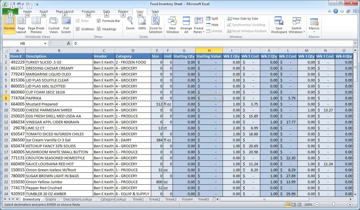 spreadsheet templates At the far right of the