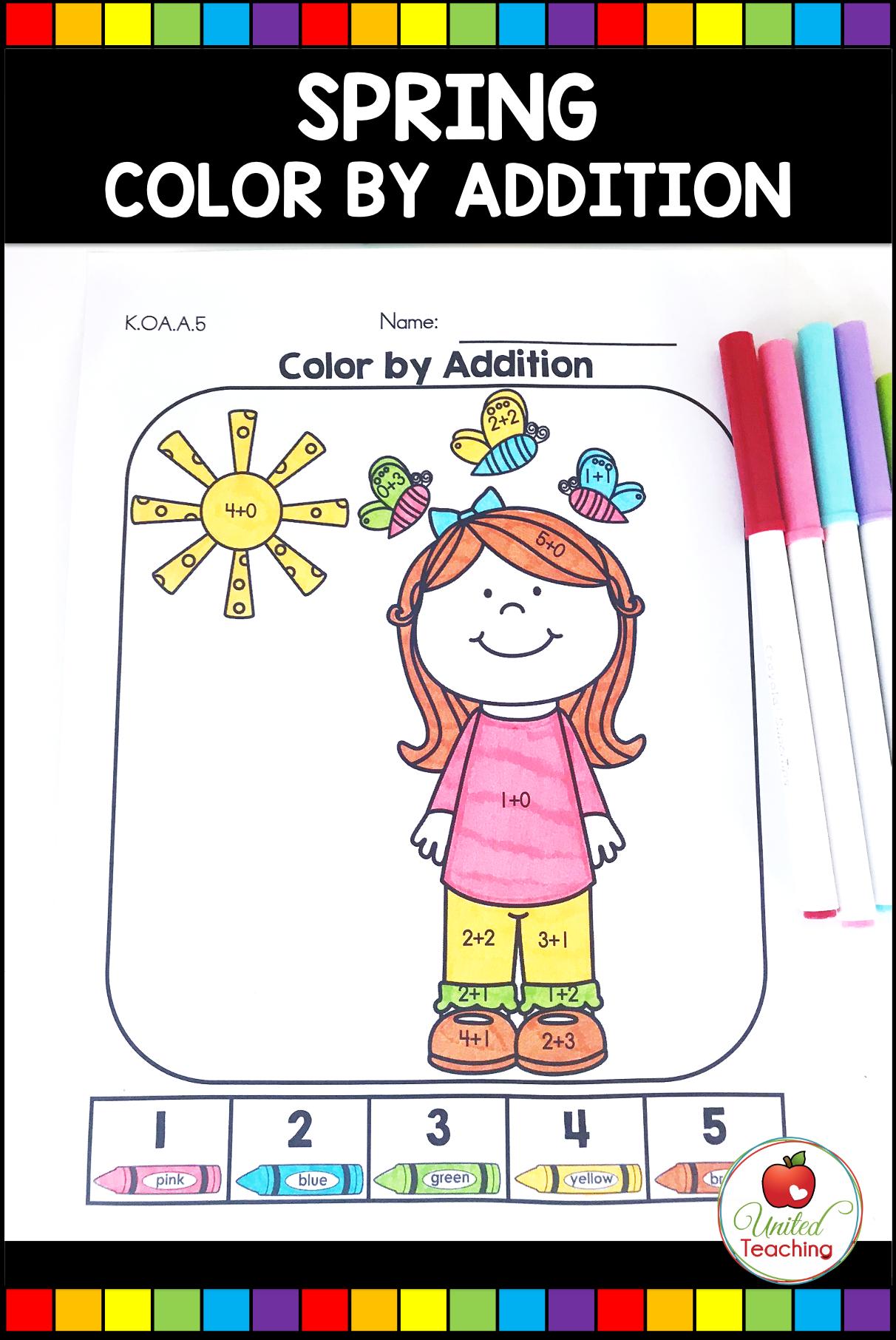 Spring Math And Literacy Activities Kindergarten
