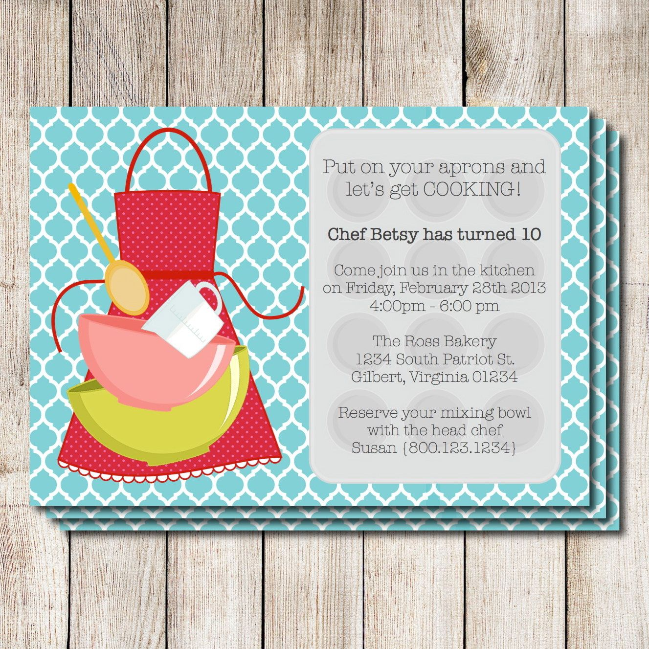BAKING PARTY invitation templates - Yahoo Image Search Results ...