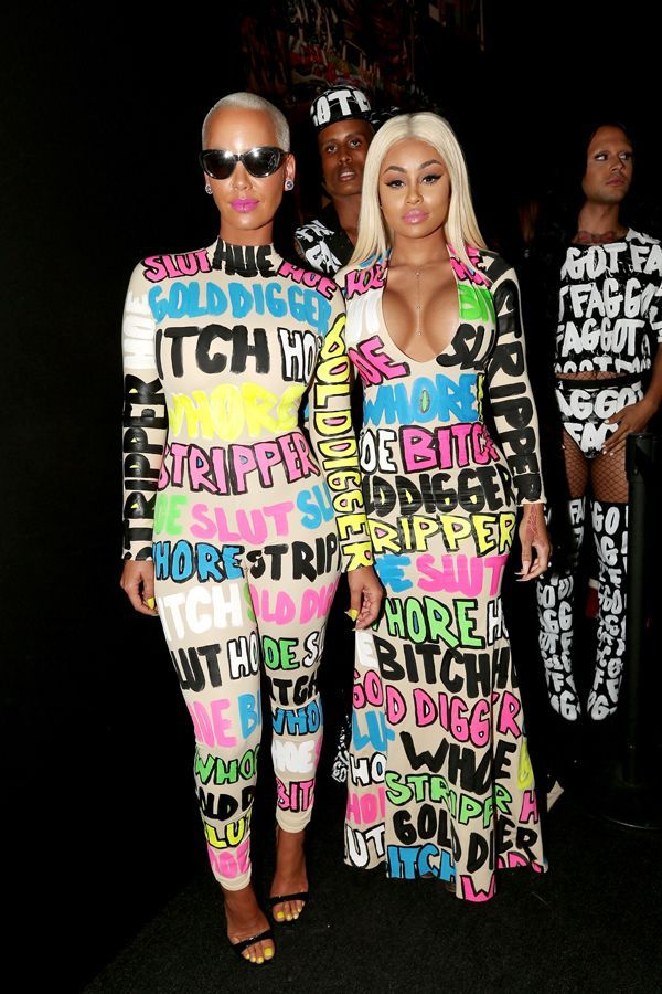 30ca24af5916 Amber Rose s Outfit Throws Back Every Insult She s Received