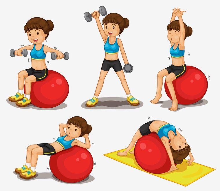 Personas haciendo ejercicio animadas buscar con google for Hacer ejercicio