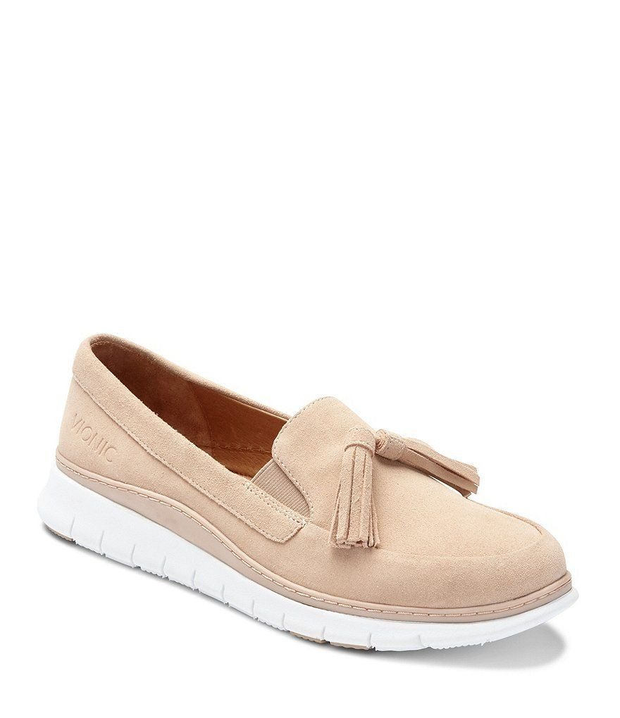 01838c22b6a Color Sand - Image 1 - Vionic Quinn Slip Ons Tassel Sneakers