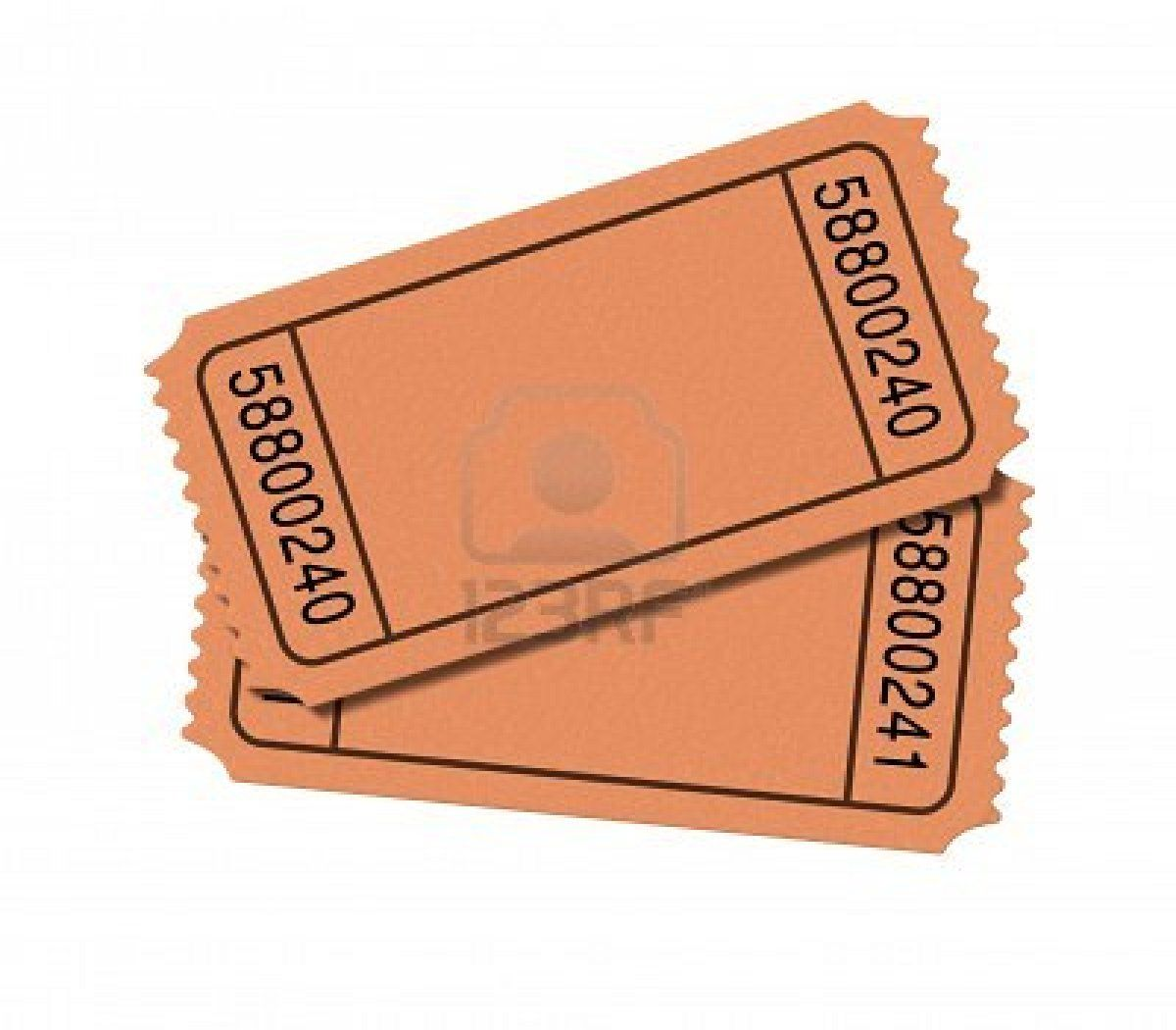 Blank Ticket Template To Make Out Theater Ticket Vouchers For A