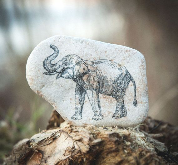 Elephant Eco-friendly Room Decor. Natural stone от KDspaceGifts