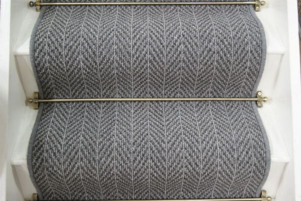 Best Briar Herringbone Dark Grey Stair Runner With Images 400 x 300