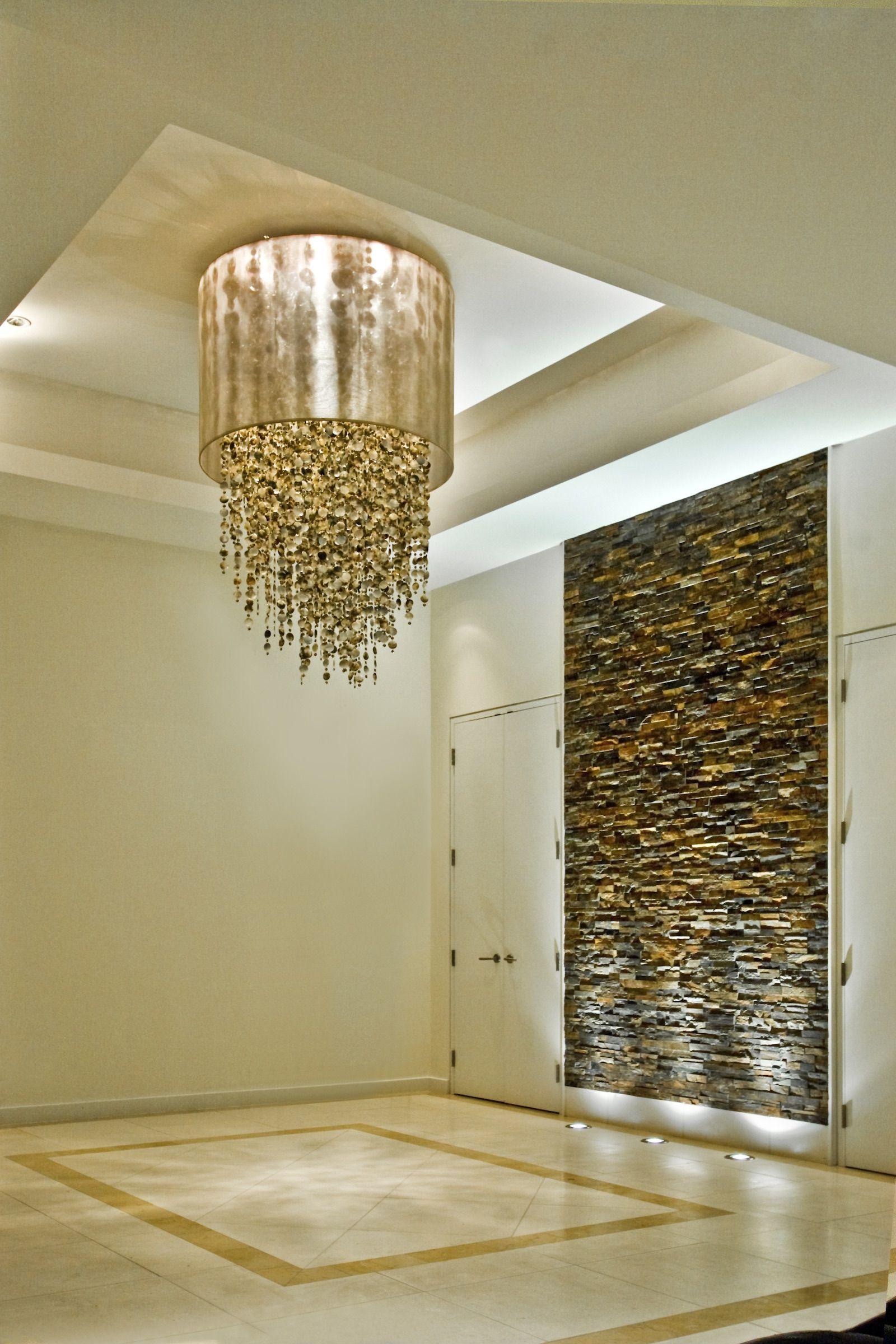 GLOW Coastal Shell Entry Chandelier Crystal Lighting