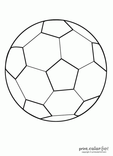 this printable coloring book page of a soccer ball known as a football in most countries outside the us can be colored any way you like even if theyre - Football Printable Coloring Pages