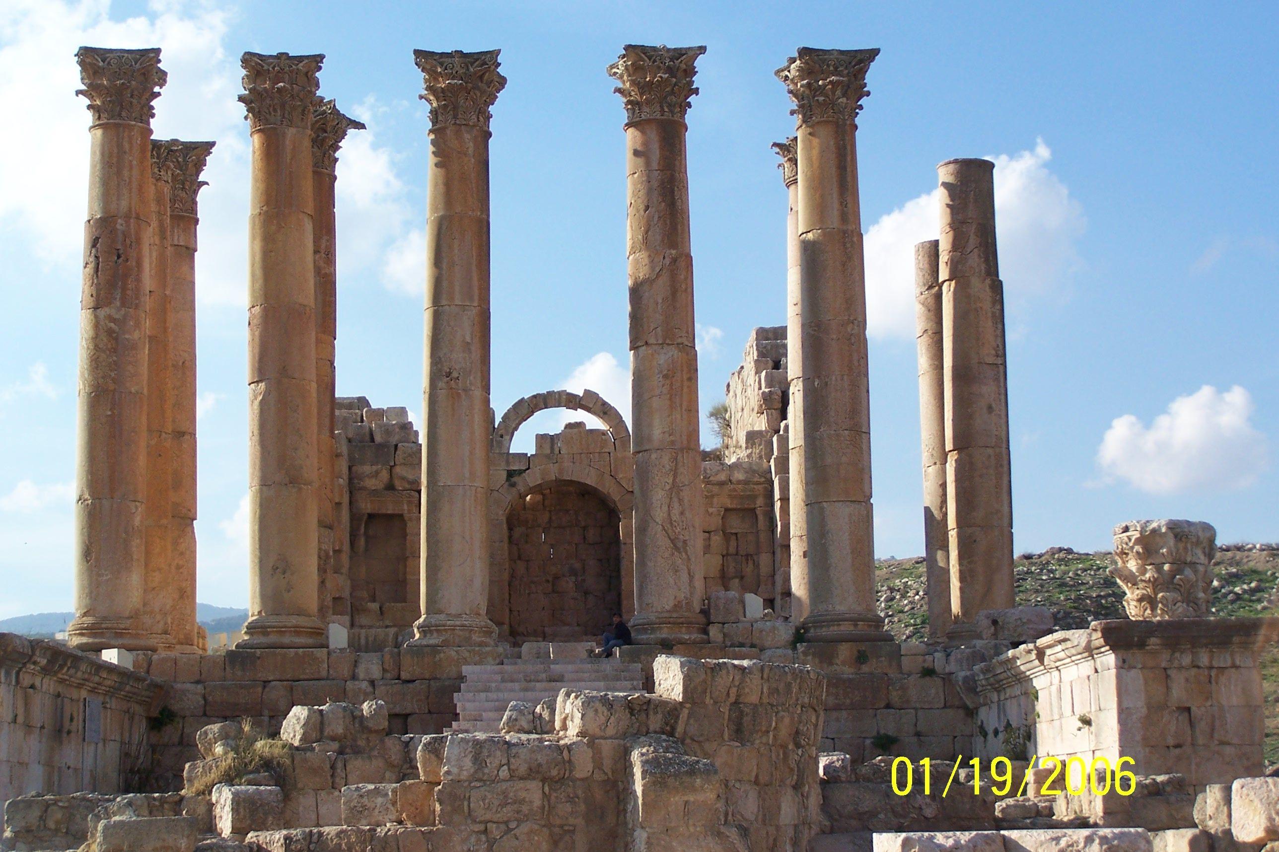 My amateur shot of ancient ruins in Jarash, Jordan