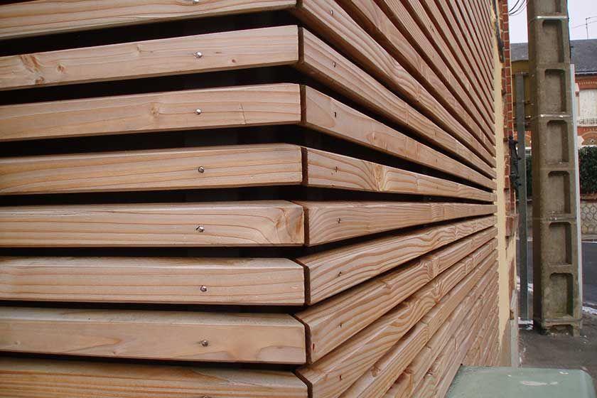 clin claire voie en douglas en 2019 garage wood facade. Black Bedroom Furniture Sets. Home Design Ideas