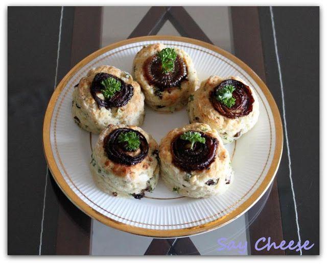 Кулинарный блог Say Cheese: Грибные сконы с карамелизированным луком