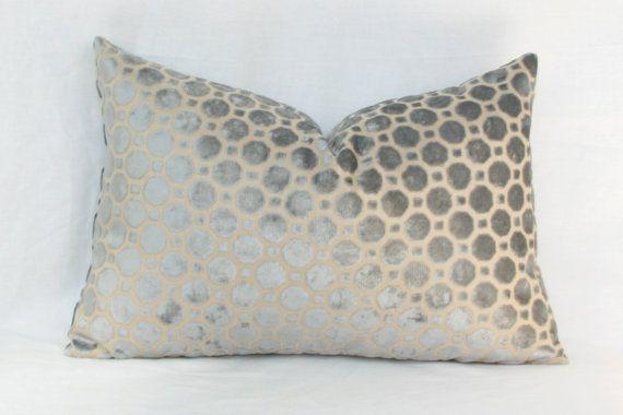 16X26 Pillow Insert Grey Geo Velvet Pillow Cover 12X20 13X20 12X24 13X24 13X26 14X24