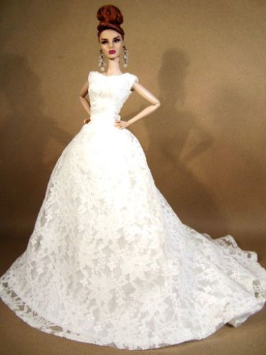 Wedding Bride Lace Evening Dress Outfit Gown Silkstone Barbie Fashion Royalty FR