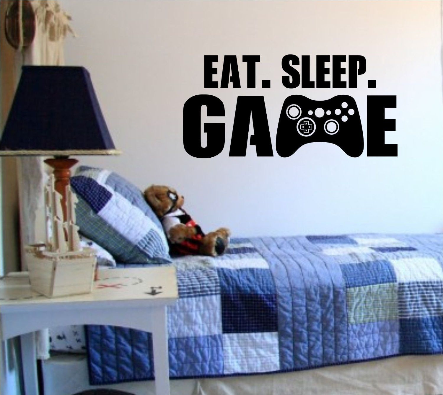 Bedroom Wall Decor For Teenagers Boy Bedroom Roof Ceiling Rangers Wallpaper Bedroom Bedroom Ideas For Young Adults Girls Tumblr: Eat Sleep Game Version 101 Gamer Video Game Decal Sticker