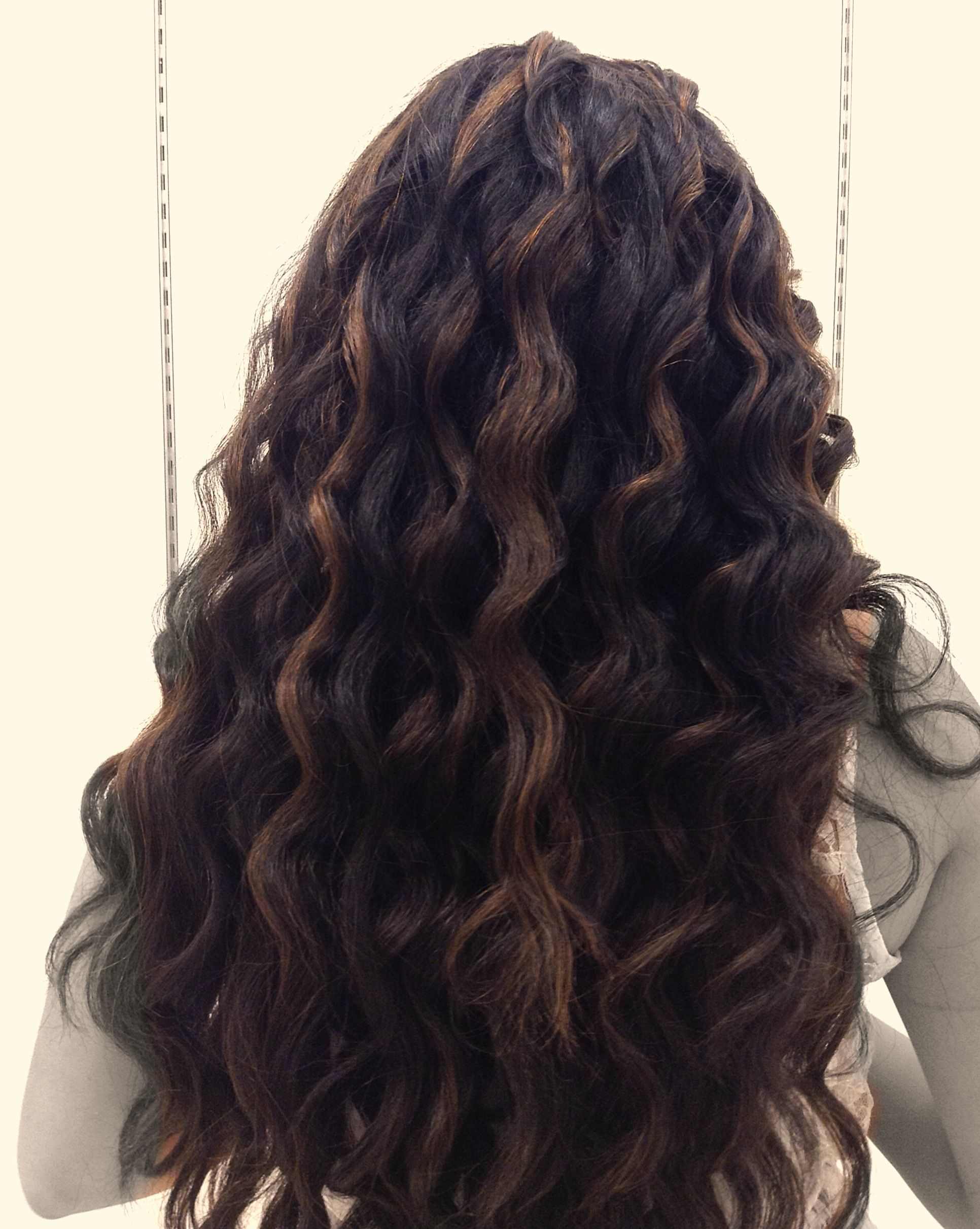 Caramel Highlights On Black Hair With Images Hair Pale Skin