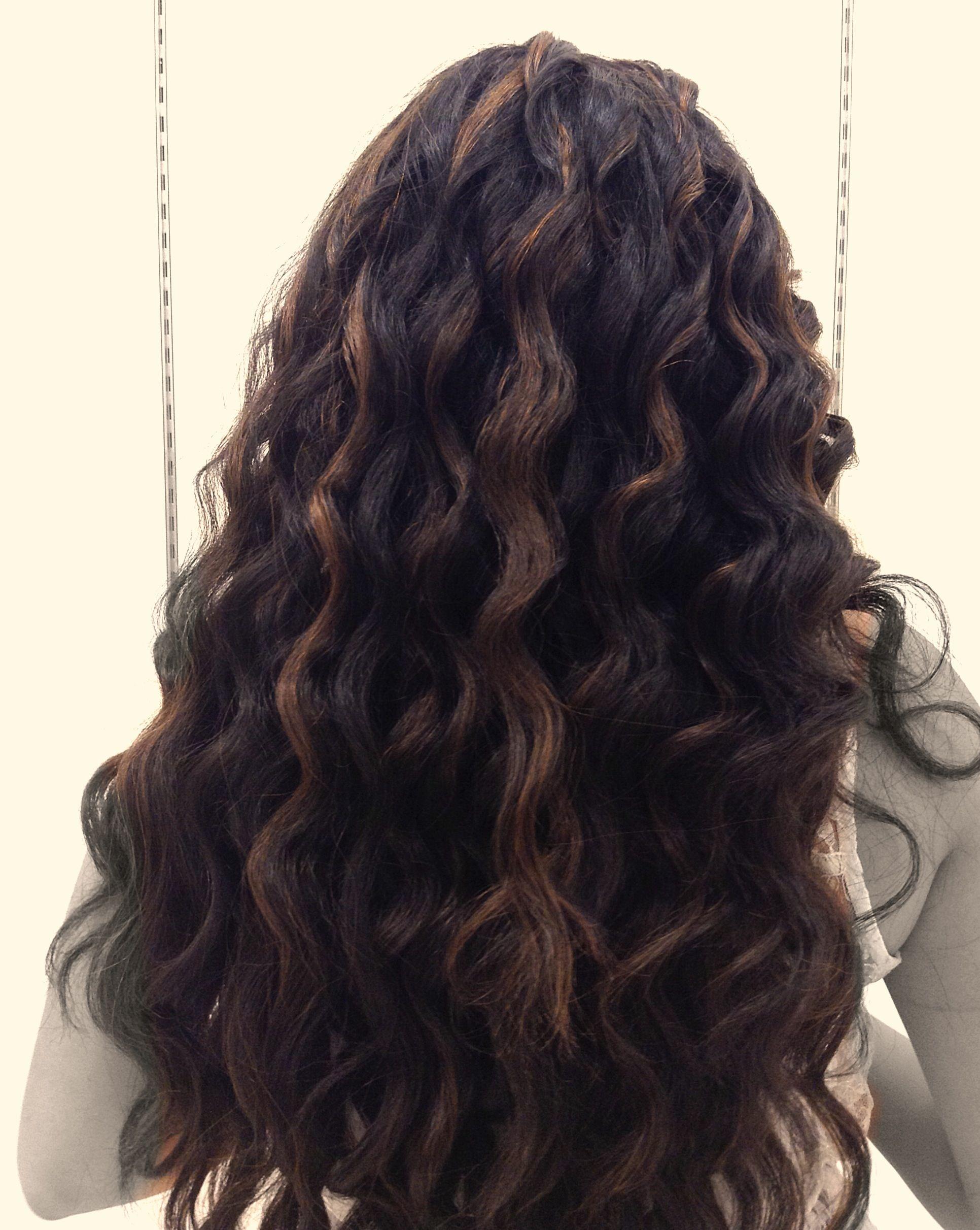 Caramel Highlights On Black Hair Just A Tangle Of Hair