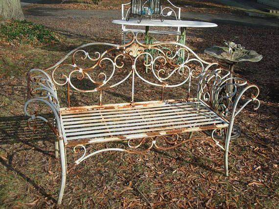 Super Antique Metal Outdoor Furniture Vintage Metal Patio Sofa Gmtry Best Dining Table And Chair Ideas Images Gmtryco