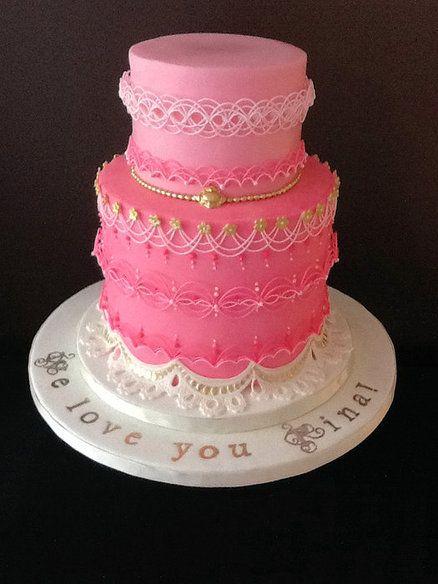 The Sugar Nursery's Oriental String Work Princess Cake