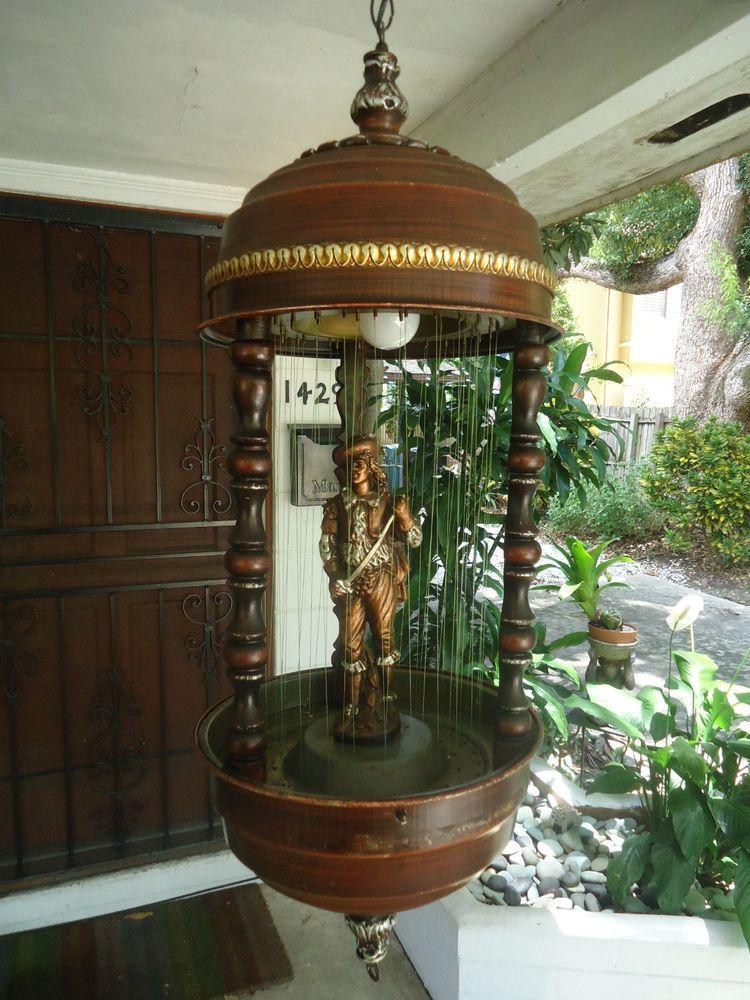 "Vintage Rain Lamp Oil 36"" Rare Don Juan Musketeer Figure"
