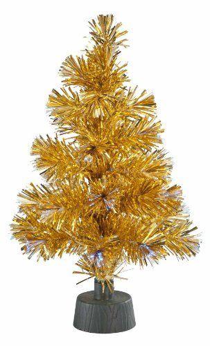 tinsel small fiber optic christmas tree easy lighted xmas decor glowing holiday - Small Fiber Optic Christmas Tree