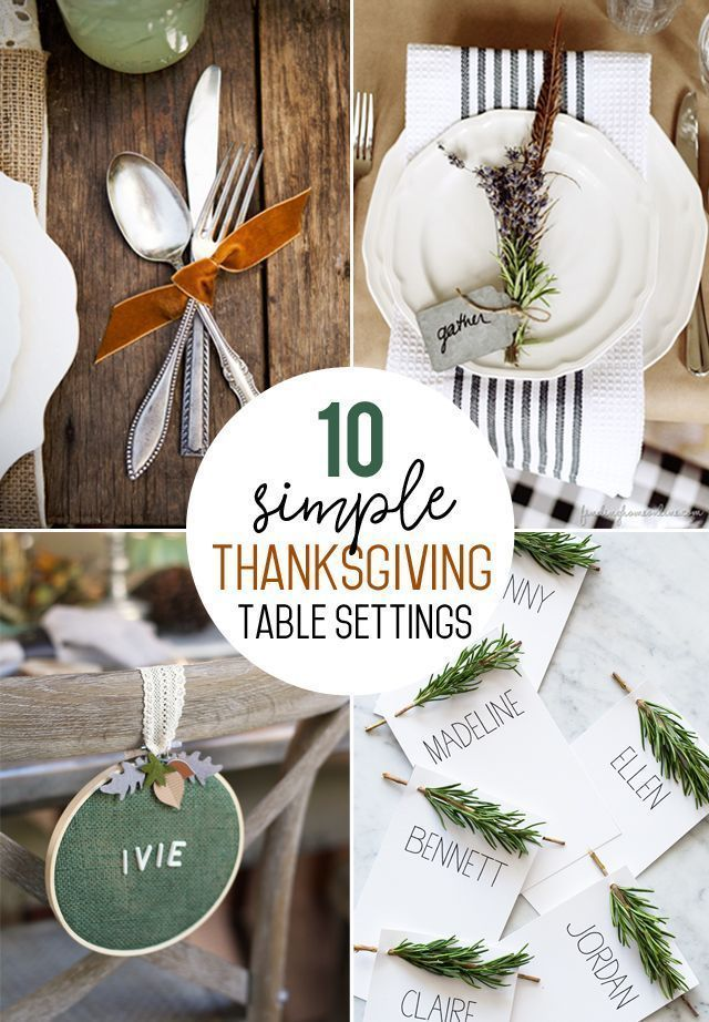 Simple Thanksgiving Table Setting Ideas - My Sister's Suitcase #thanksgivingtablesettingideas Simple Thanksgiving Table Setting Ideas #thanksgiving #tablesettings #placesettings #tablescape #fall #diy #thanksgivingtablesettings