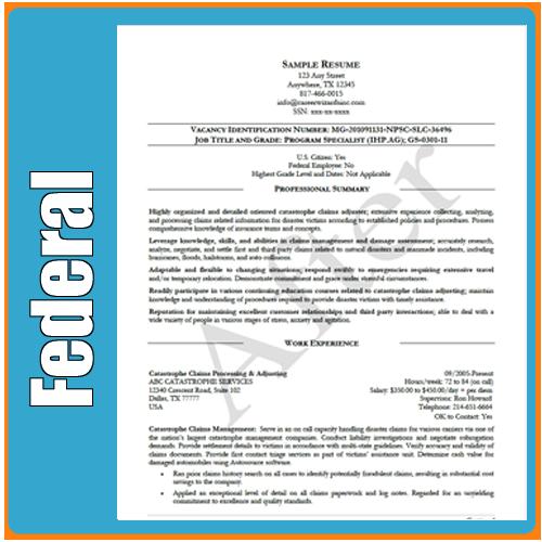 Federal Job Resume Cover Letter  resume  Federal resume Job resume Resume
