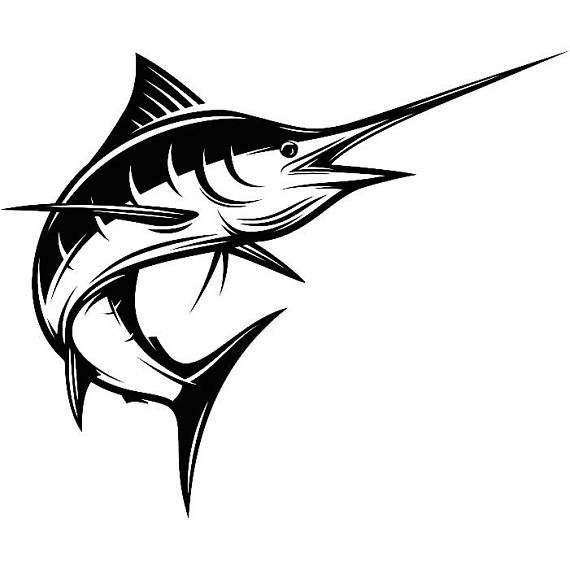 Marlin Fishing #3 Deep Sea Ocean Water Hunting Fish Competition Contest  Logo.SVG .