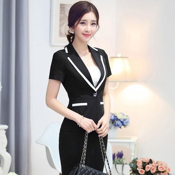 Set Women Elegant Skirt Suits New 2015 Summer Business Formal Suits Work Ladies Office Uniform Style Xxxl Online with $46.71on Yamazak's Store | DHgate.com