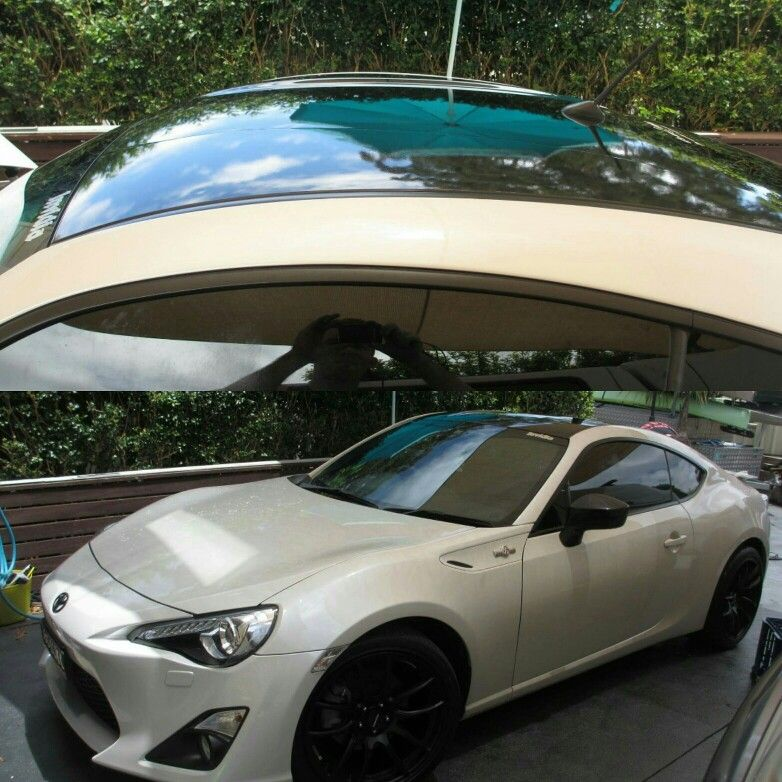 Toyota Gt86 Vinyl Roof Wrap By Prestige Wrapping Vinyl Roofing Toyota Gt86 Vinyl Wrap