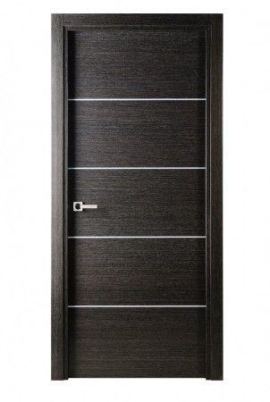 Avanti Modern Interior Door in a Black Apricot Finish