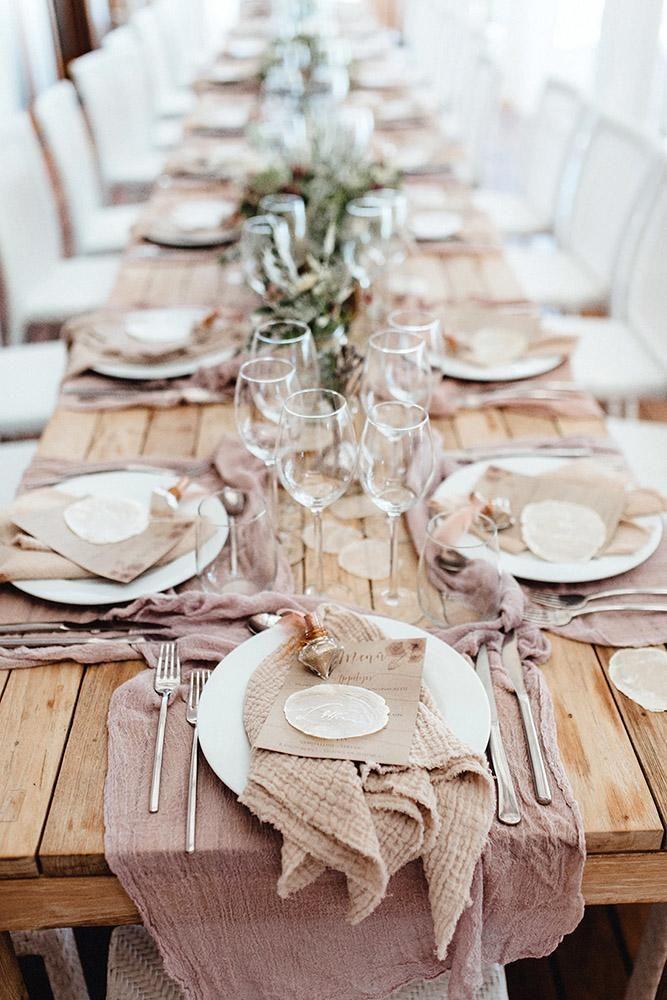 30 Popular Dusty Rose Wedding Ideas   Beach wedding tables ...