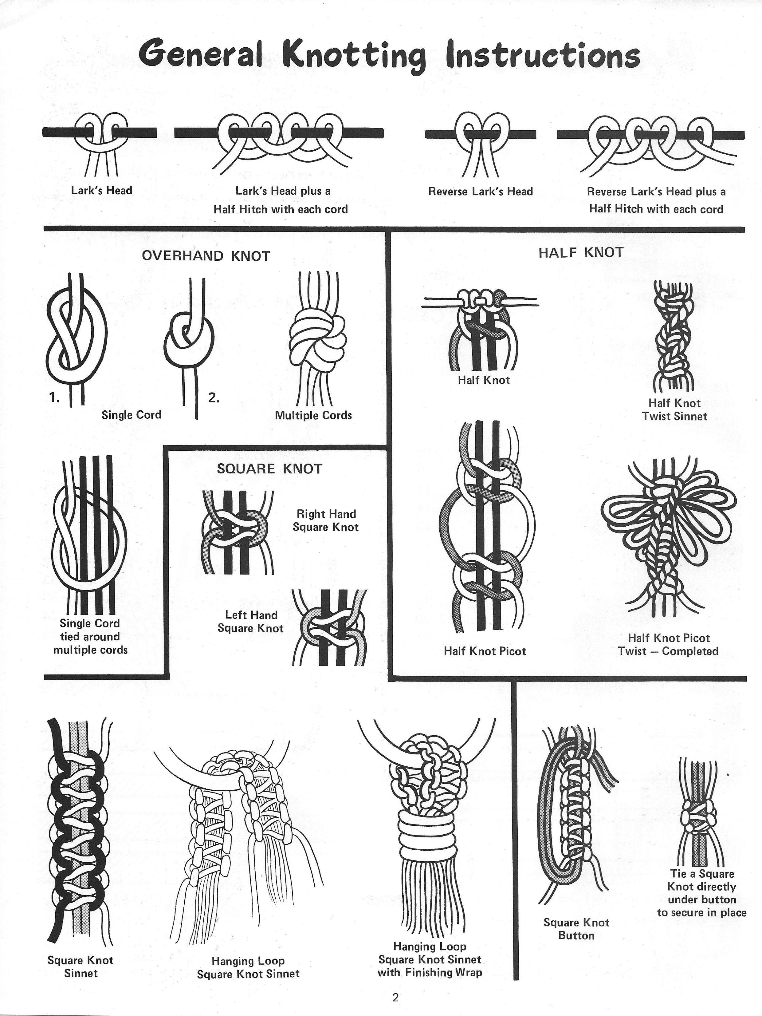 Variety The Spice of Macramé • 1970s Macrame Pattern Book