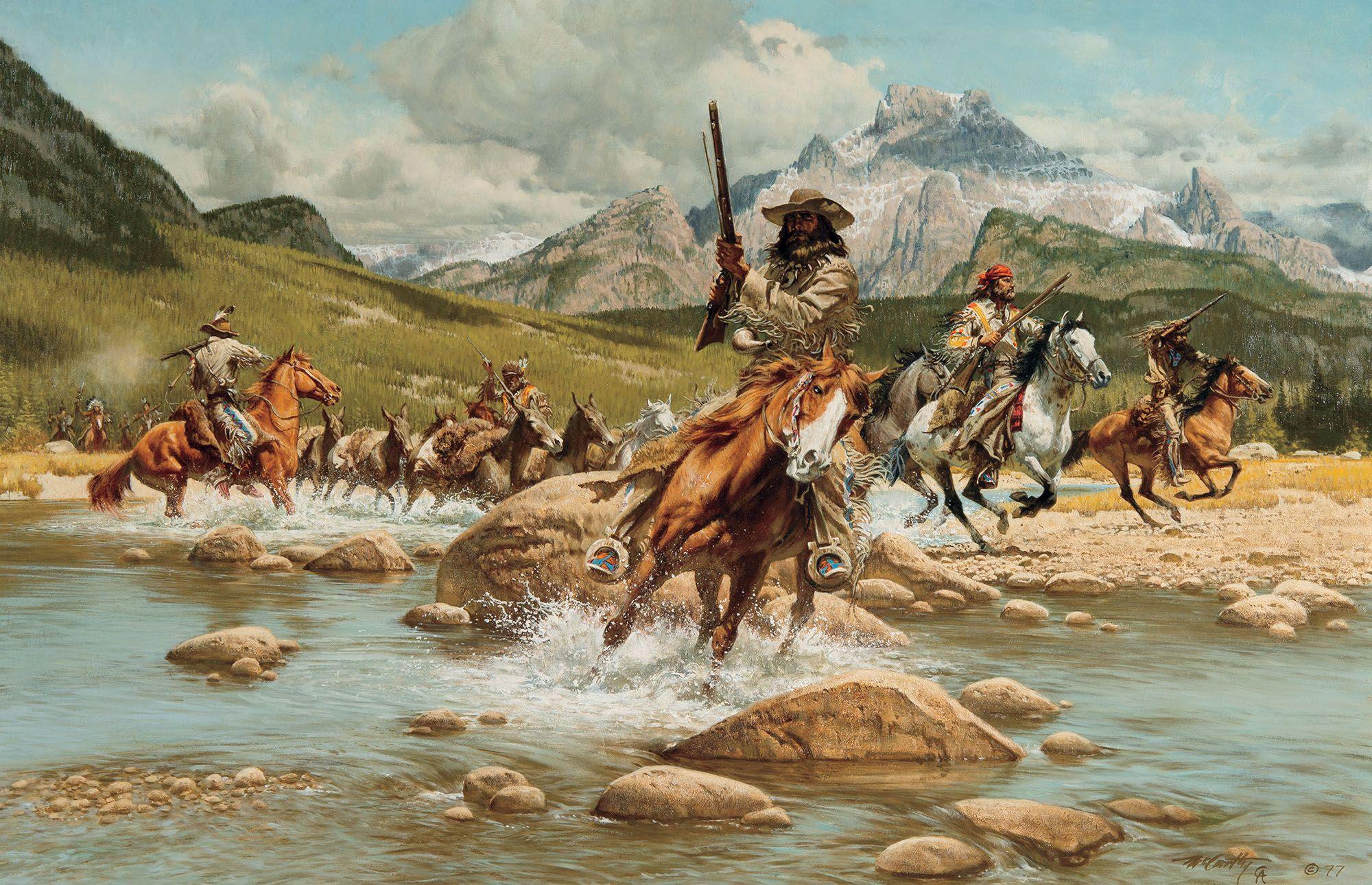 Pin Francisco Lopez Nativos Cowboy Art West