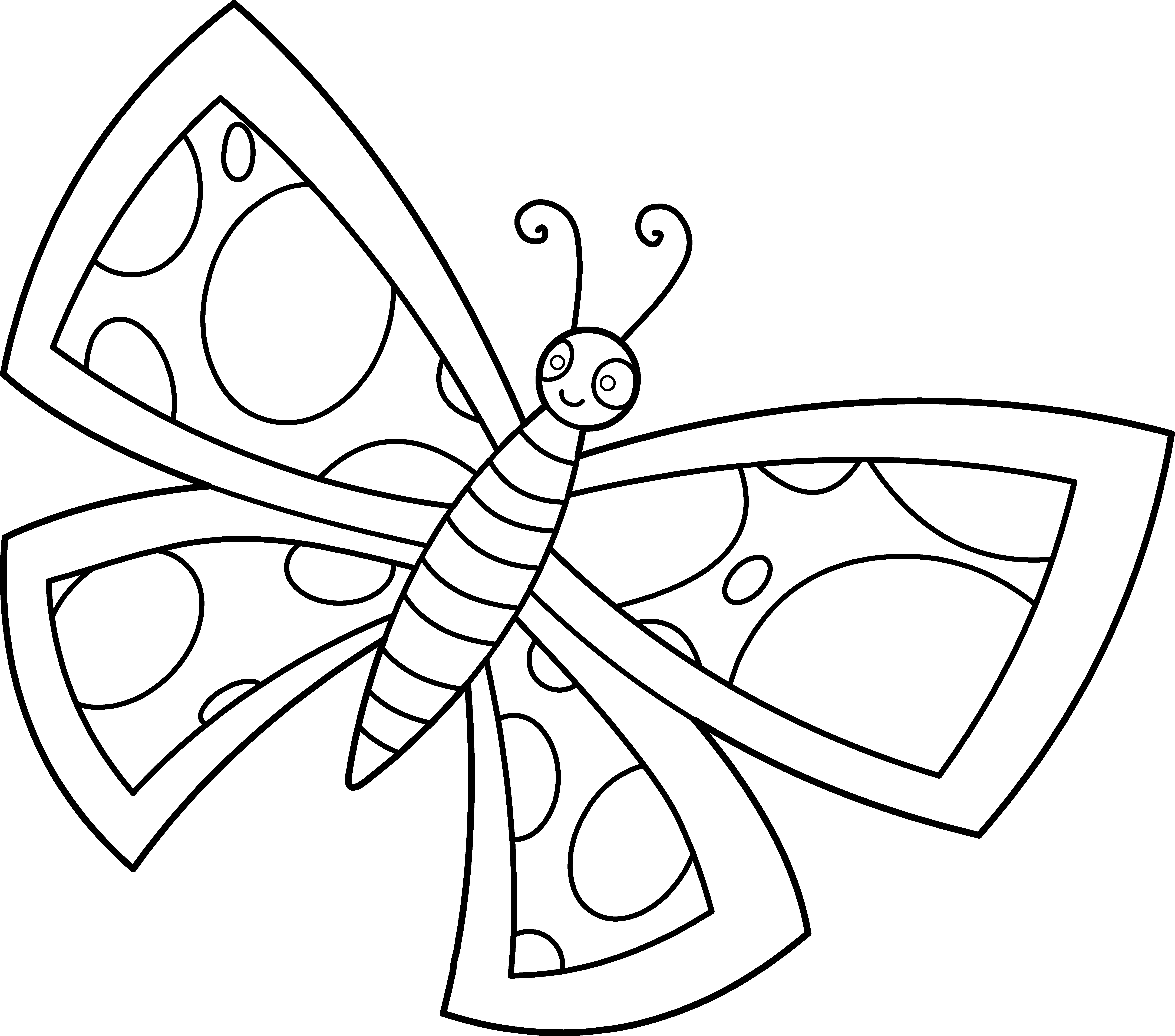 Butterfly Cute Line Art Png 6 694 5 904 Pixels Butterfly