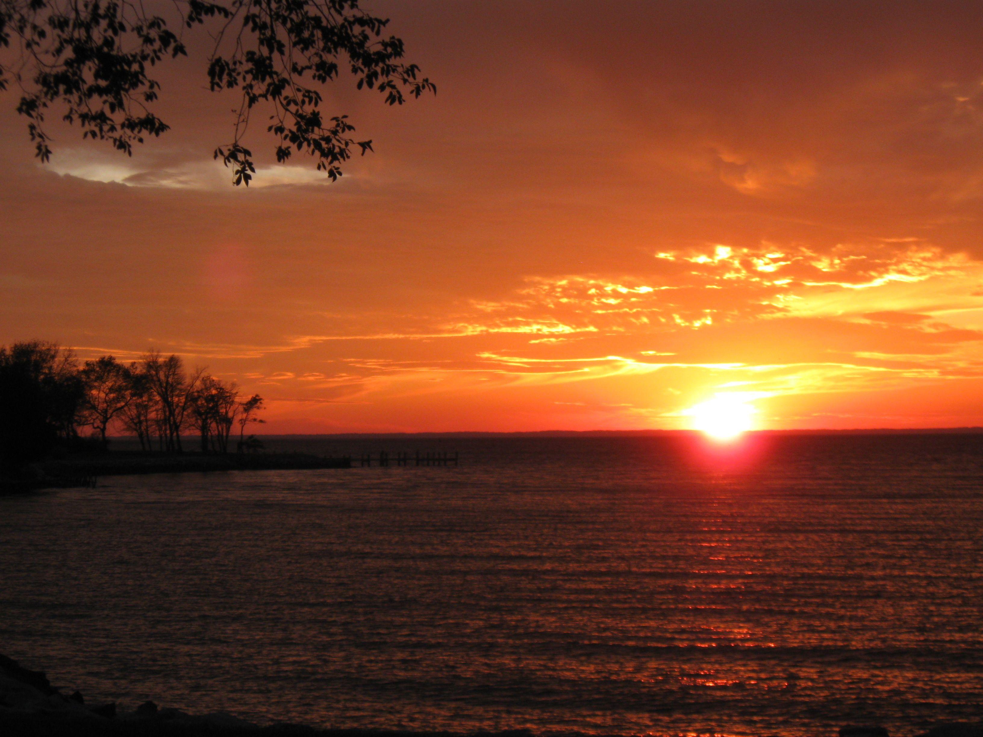 Sunset Sunset Landscape Chesapeake