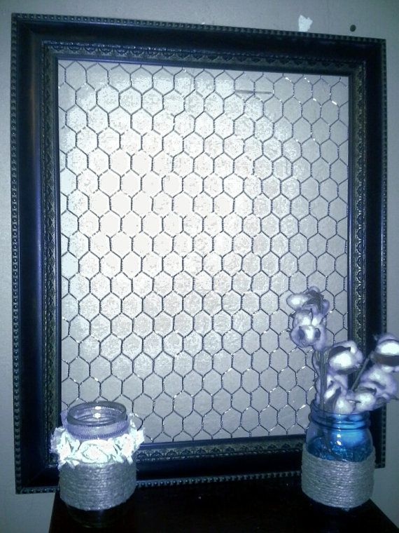 Chicken wire frame..chicken wire...picture frame