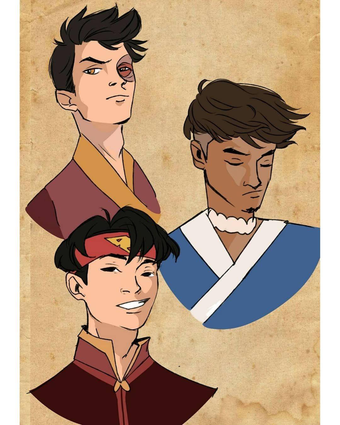I Love Powerfull Boys Wait Aang With Long Hair And Sokka With Beard So Nice If You Wi Avatar Airbender Avatar The Last Airbender Art Avatar Characters