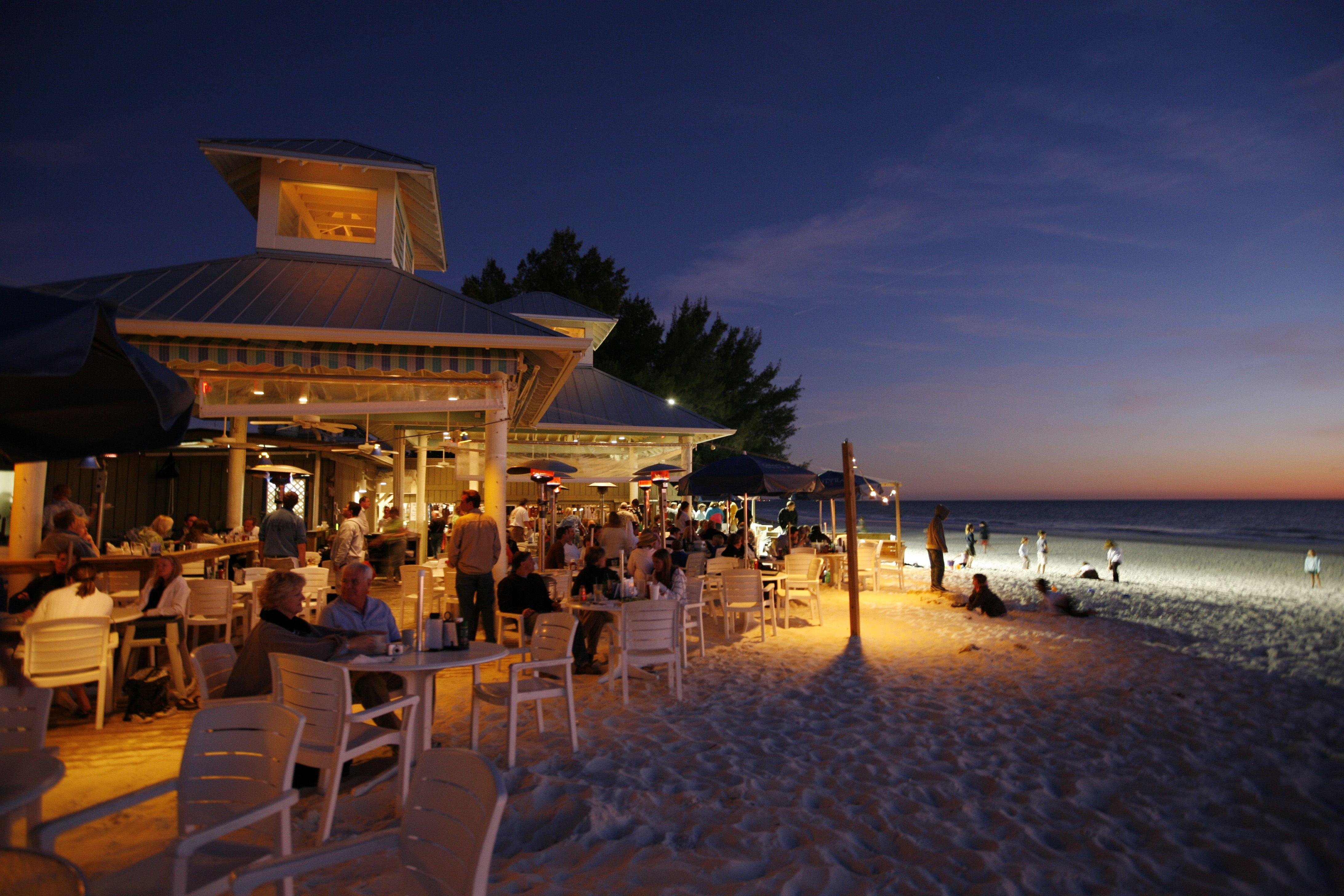 The Sandbar Restaurant Deck Anna Maria Island Against Which We