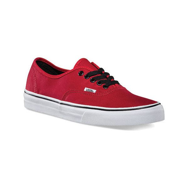 44384802df3 Vans Authentic Sneaker - Chili Pepper Red Black Canvas Shoes ( 45) ❤ liked  on Polyvore featuring shoes