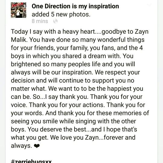 My message to Zayn...Love you ❤