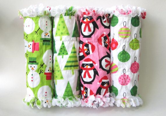 Christmas Burp Cloths, Baby Burp Cloths, Flannel Burp Cloths, Baby